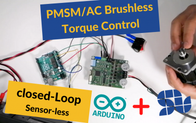 How to control the Torque of your Brushless AC motor using SOLO and ARDUINO  | ESC | FOC | Sensorless