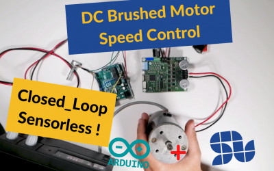 How to control the speed of DC motor using ARDUINO and SOLO in closed loop sensorless mode