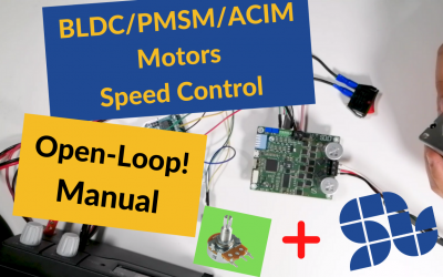 How to control the speed of a 3 phase motor Manually using SOLO in Open-loop mode |OpenLoop|Standalone