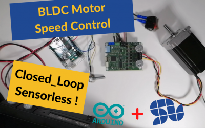 How to control the speed of BLDC motor using Arduino and SOLO in Closed-loop sensorless mode |FOC|BLDC|Sensorless