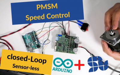 How to control speed of PMSM using ARDUINO and SOLO in closed loop sensorless mode  | ESC | FOC | Sensorless
