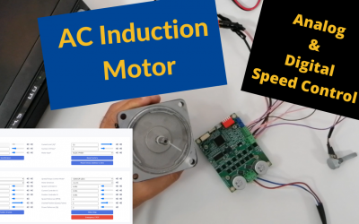 Simple Speed Control of an AC Induction Motor in Analog and Digital Fashions using SOLO | FOC