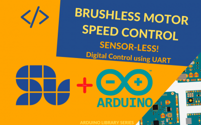Sensorless Speed Control of a Brushless Motor with ARDUINO and SOLO in Digital Mode using UART Communication