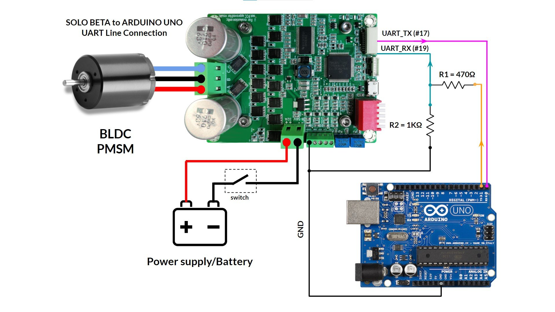 arduino uno and solo beta wiring