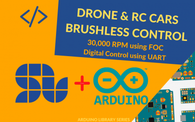 How to Drive Fast Drone or RC car Brushless Motors using ARDUINO and SOLO in Sensorless Mode up to 30,000 RPM