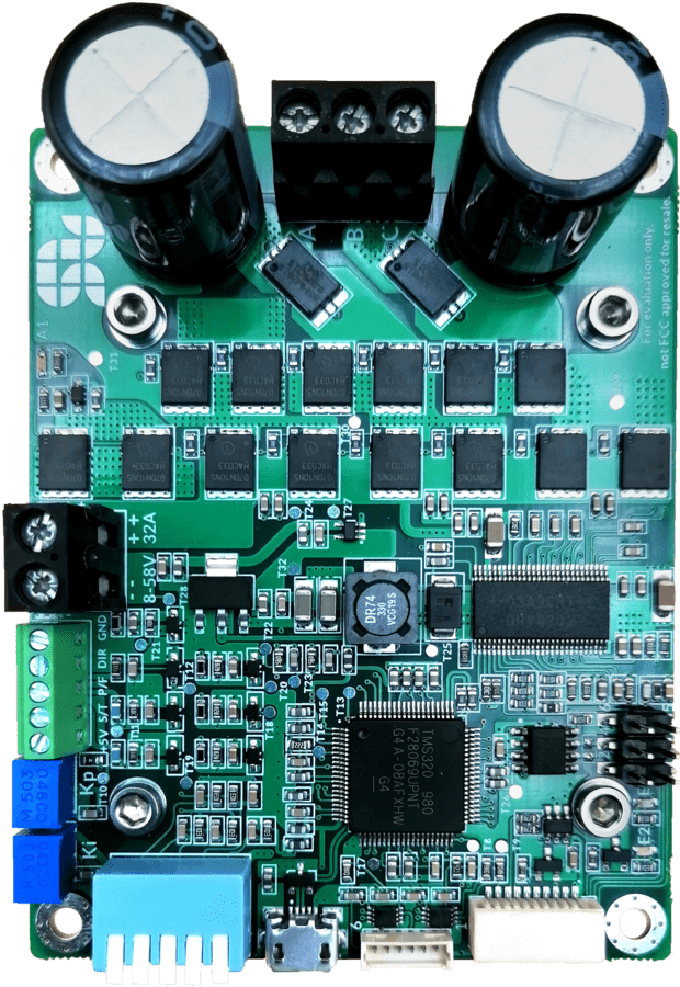 Front view of Solo motor driver