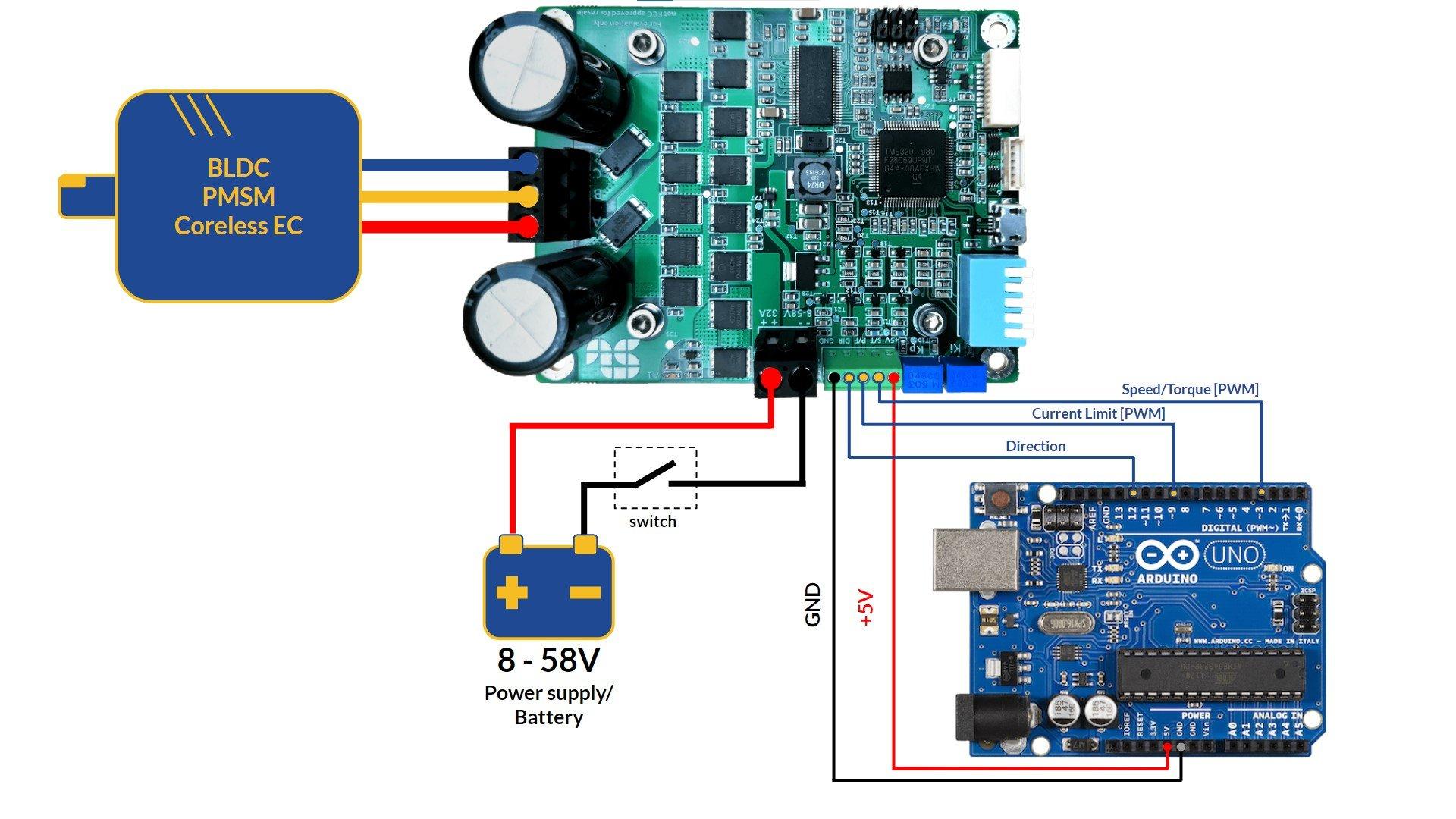 SOLO UNO schematic to Arduino